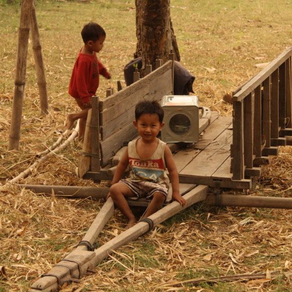 Kinder auf Koh Trong