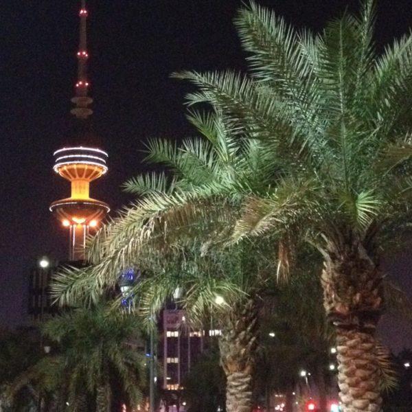 Kuwait Tower bei Nacht