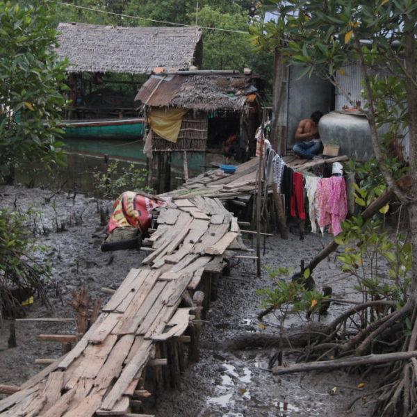 Muslimisches Dorf bei Kampot