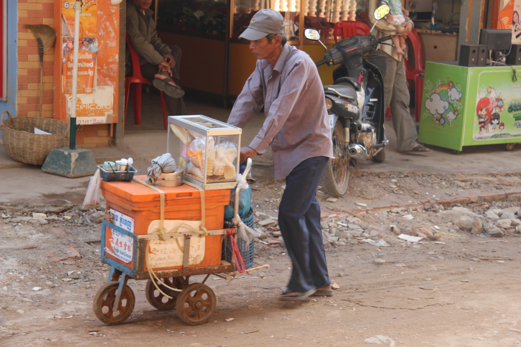 Mobiler Eisverkäufer in Siem Reap