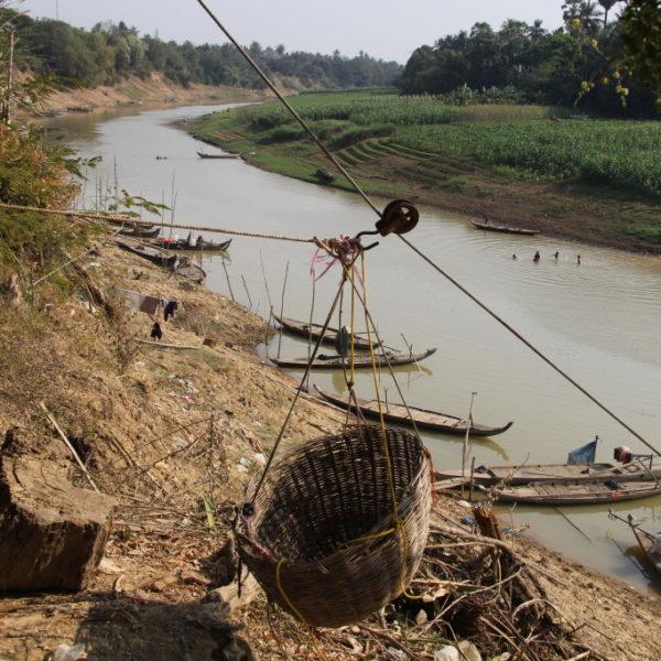 Muslimisches Fischerdorf nahe Battambang