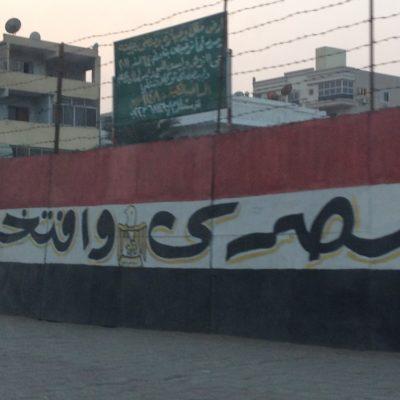Nationalfarben in den Straßen von Kairo