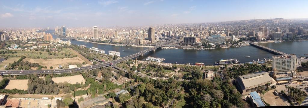 Panorama von Kairo vom Cairo Tower aus