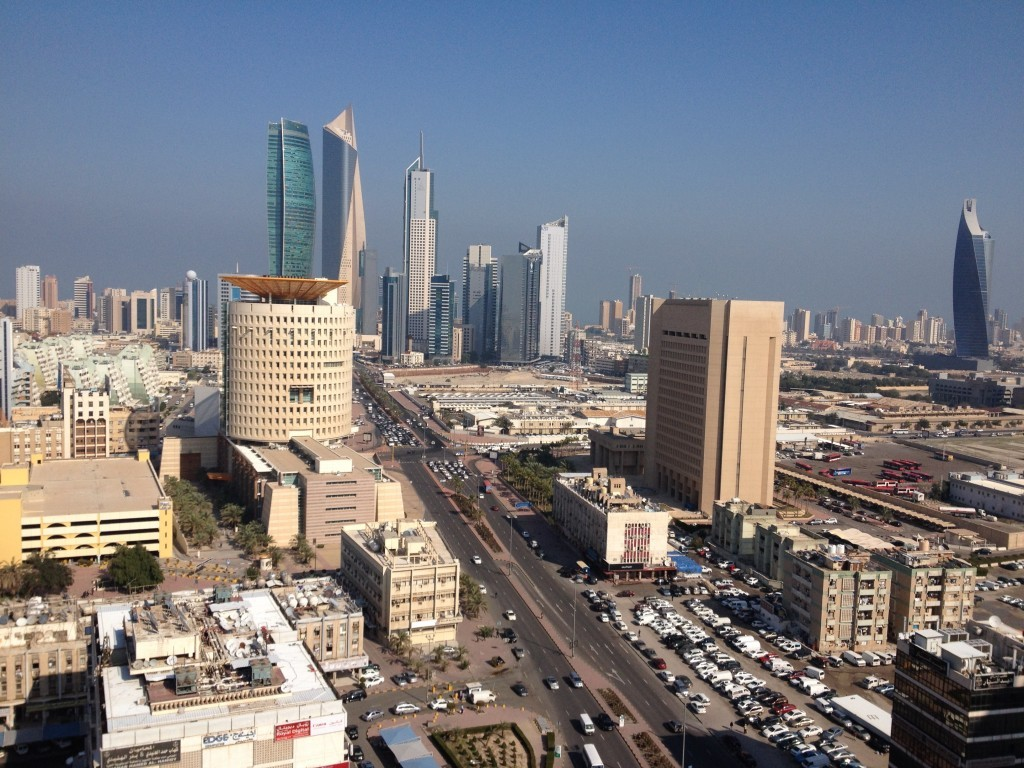 Panoramablick über Kuwait City bei Tag