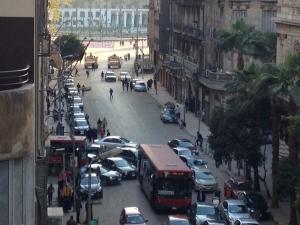 Panzer vor dem Tahrir-Platz