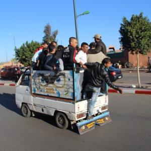 Passagiertransport auf marokkanisch
