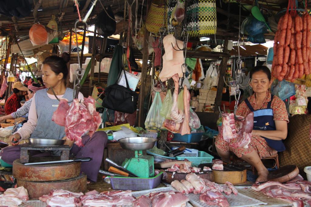 Phsar Chas - Fleischverkäuferinnen