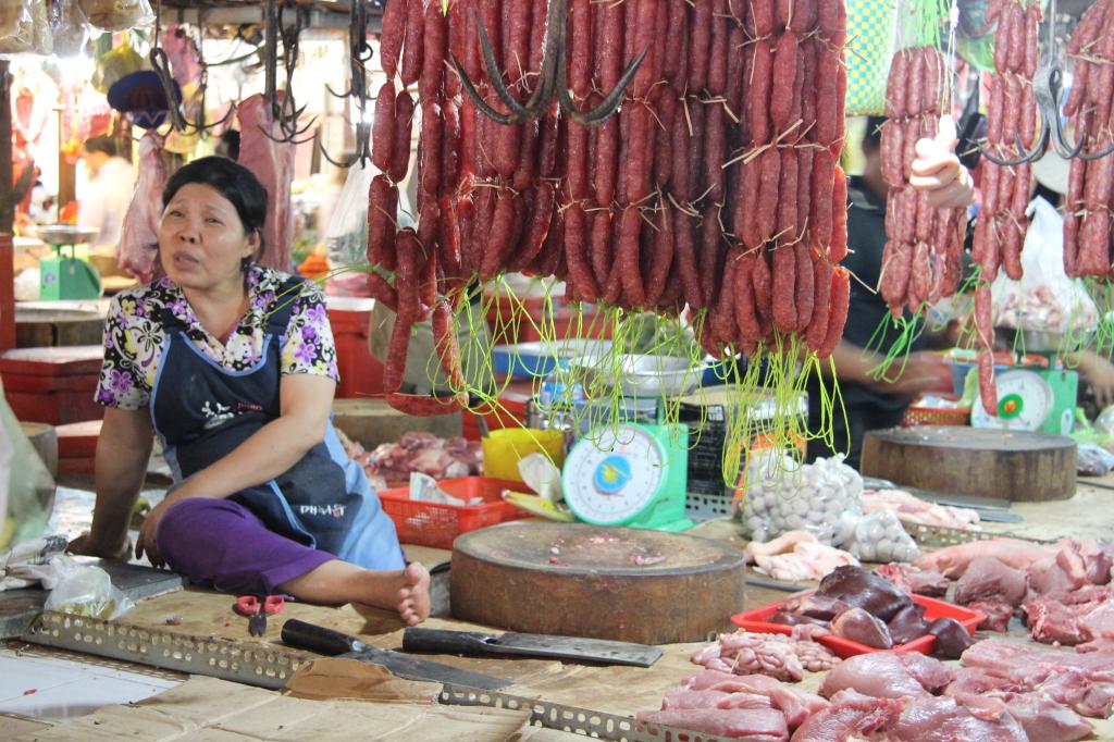 Phsar Chas - Fleischverkauf auf dem Old Market