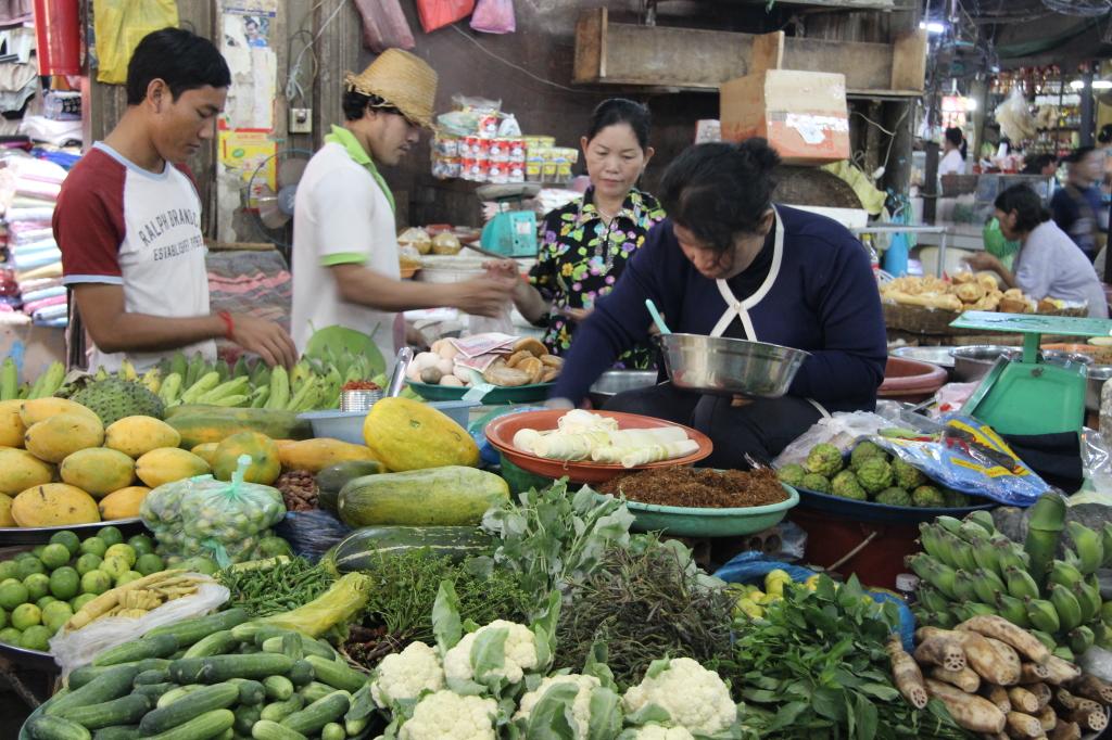 Phsar Chas - Gemüsestand auf dem Old Market