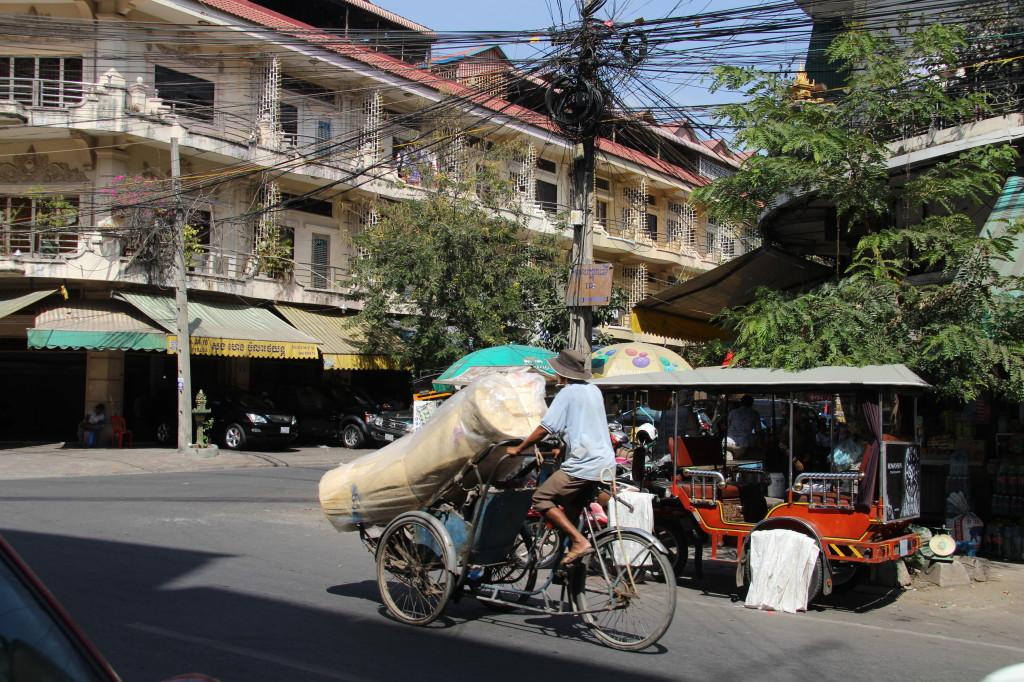Rikscha als Transportmittel nicht nur für Menschen