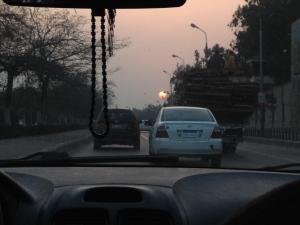 Rote Sonne - Sonnenaufgagn in Kairo
