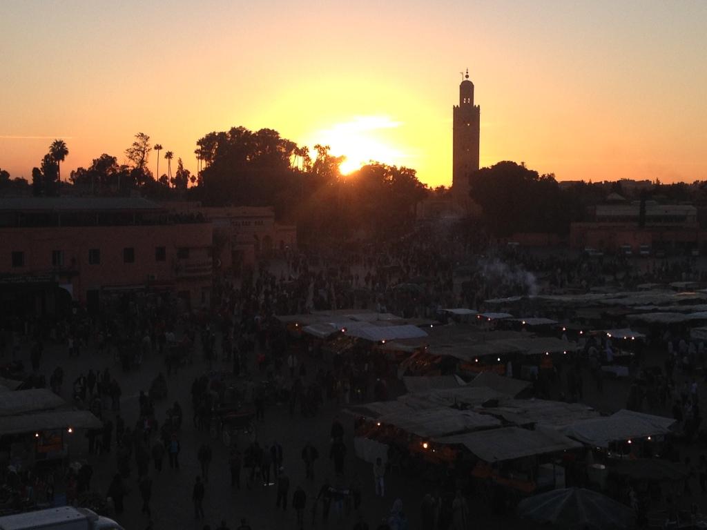 Sonnenuntergang auf der Djemma el Fna