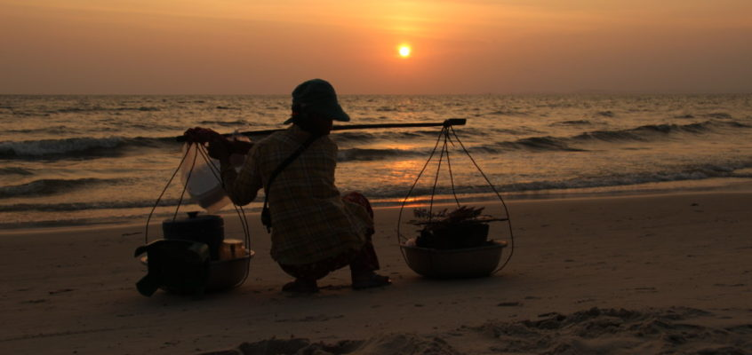 Sihanoukville – Buntes Markttreiben bis die Sonne untergeht