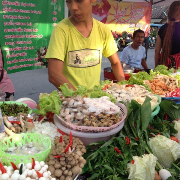 Straßenfest in Krabi - Allerlei Pilze