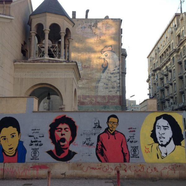 Streetart in Kairo nahe des Talaat Harb Square