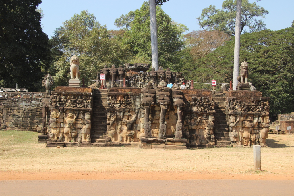 Terrasse der Elefanten in Angkor Thom