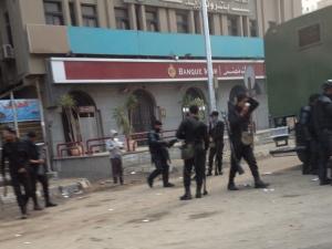 Tränengaseinsatz in den Straßen von Kairo