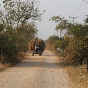 Traktor nahe Battambang