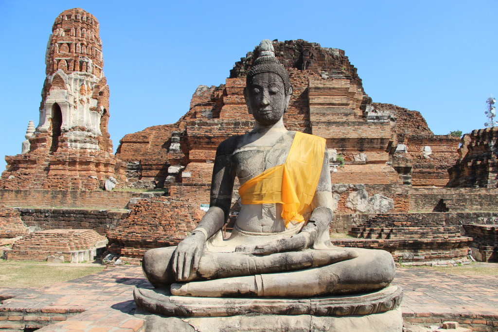 Buddha-Statue im Wat Phra Ram - Tempel des Heiligen Rama
