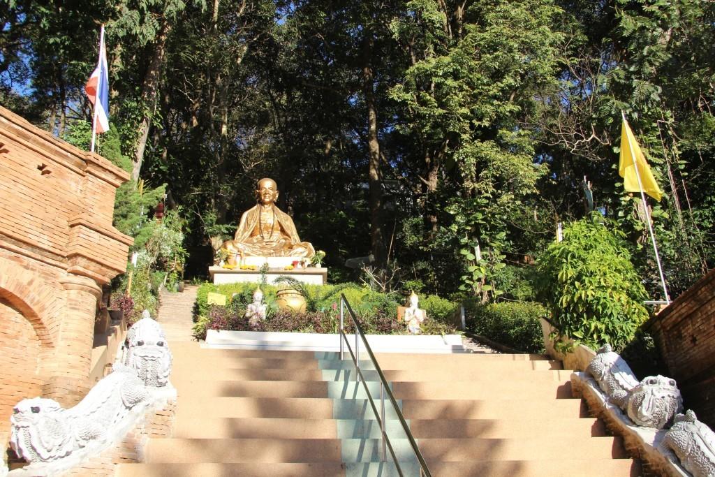 Aufgang zum Wat Phra That Doi Suthep - Wahrzeichen von Chiang Mai
