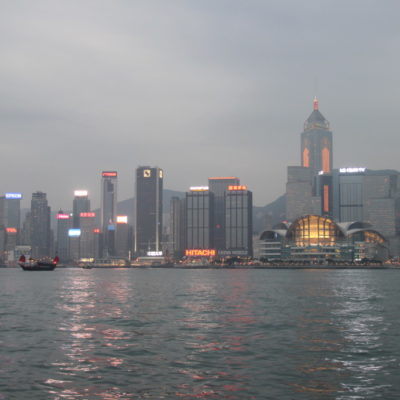 Skyline von Hongkong - Central-Promenade