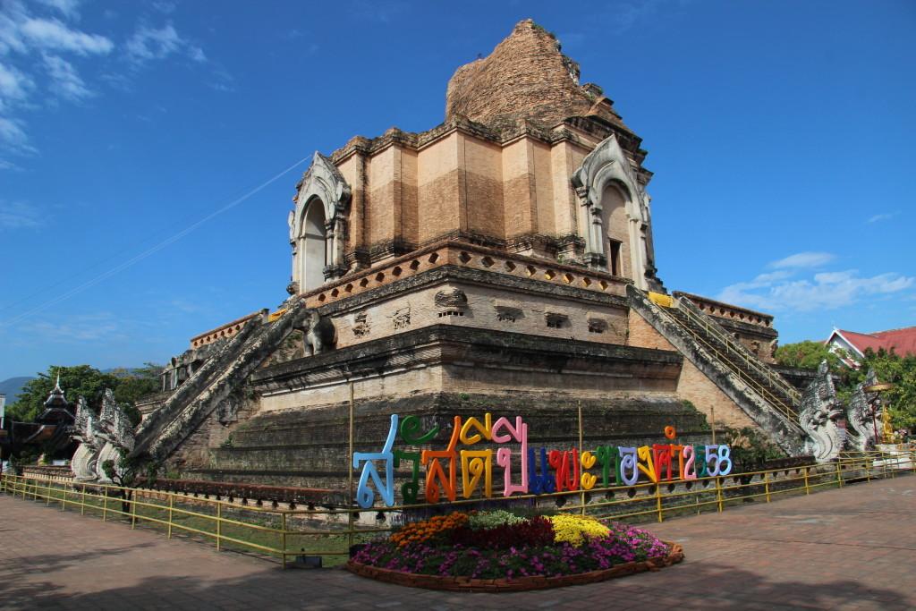 Wat Chedi Luang - Der große Stupa in Chiang Mai