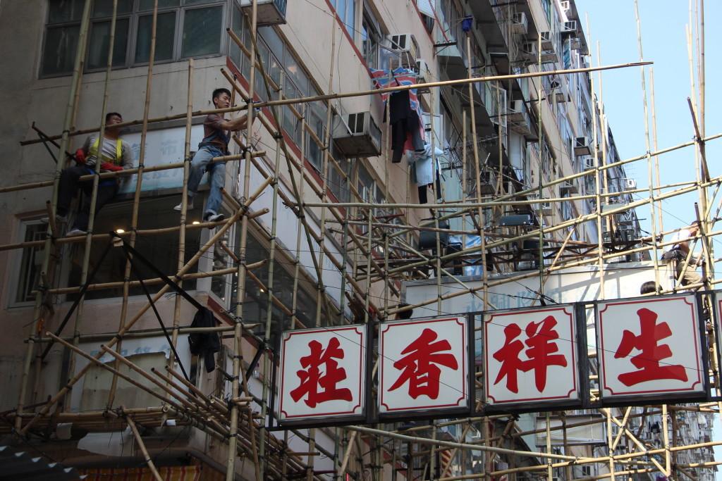 """""""Spinnenmenschen"""" nennt der Volksmund die Bambus-Gerüstebauer von Hongkong"""