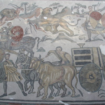 Villa Romana del Casale - Wandelgang der großen Jagd