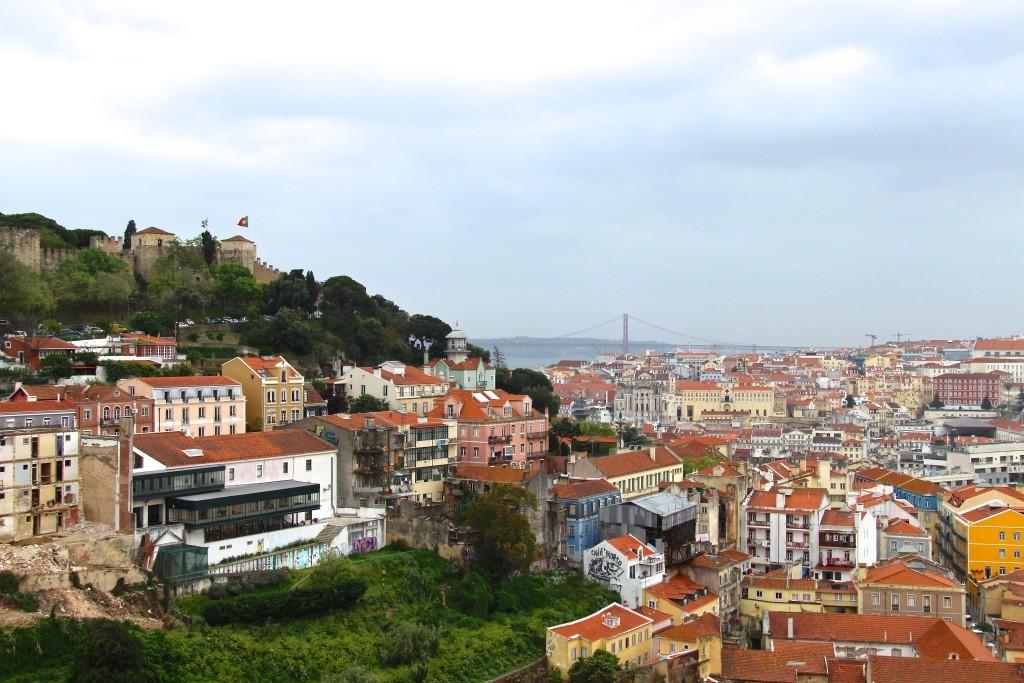Miradouro Graça - Beste Aussichten auf Lissabon, Castelo de São Jorge und Ponte 25 de Abril