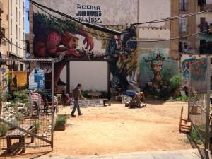 Ágora Juan Andrés Benitez - Streetart in El Raval