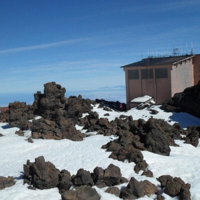 Die Bergstation der Teide-Seilbahn im Teide-Nationalpark, Teneriffa, Kanarische Inseln