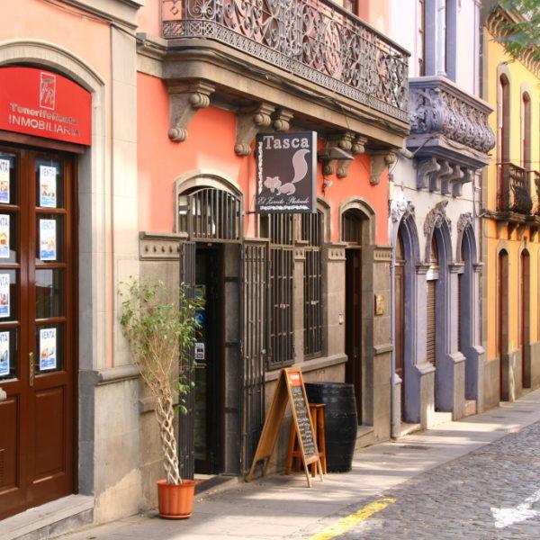 Bunte Häuser in Santa Cruz de Tenerife