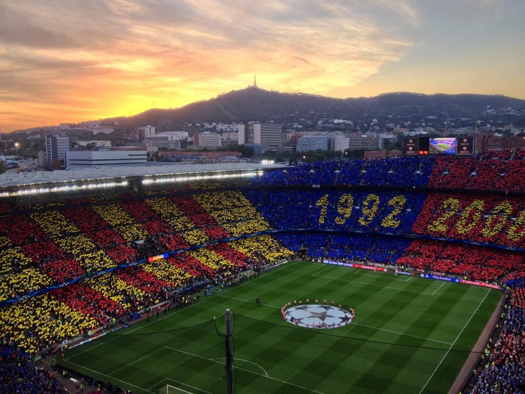 Sonnenuntergang auf dem Camp Nou - Champions League Halbfinale: FC Barcelona - FC Bayern München