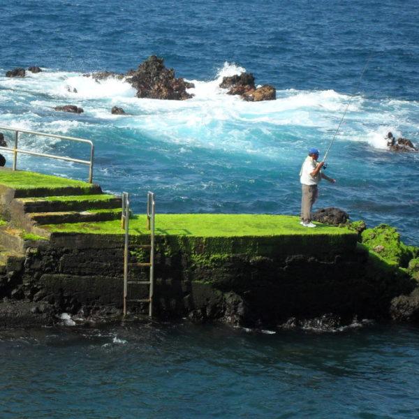 Fischer vor der Küste von von Puerto de la Cruz