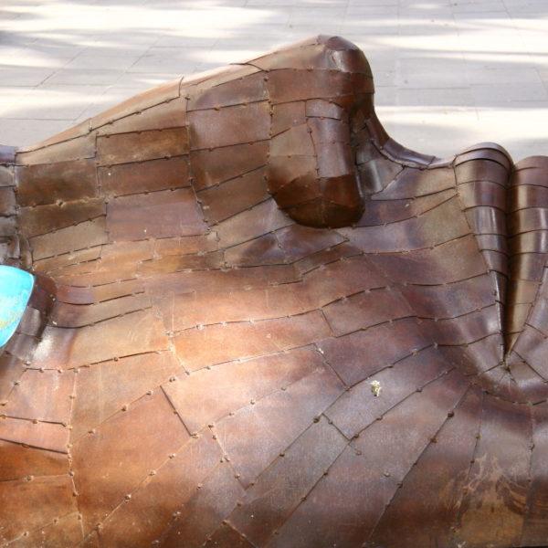Gesicht aus Holz - Skulptur in Santa Cruz de Tenerife
