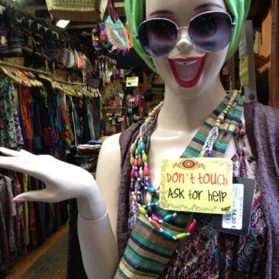 Hippie - Schaufensterpuppe