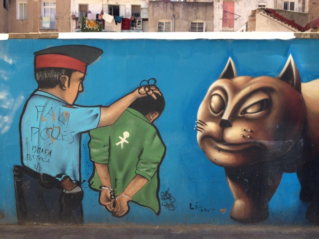 Justícia Juan Andrés - Streetart gegen Polizeiwillkür in Reval