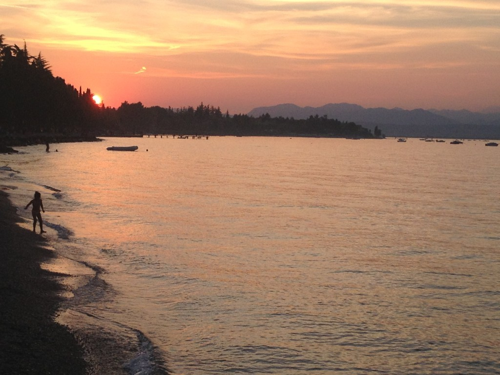 Sonnenuntergang in Peschiera del Garda