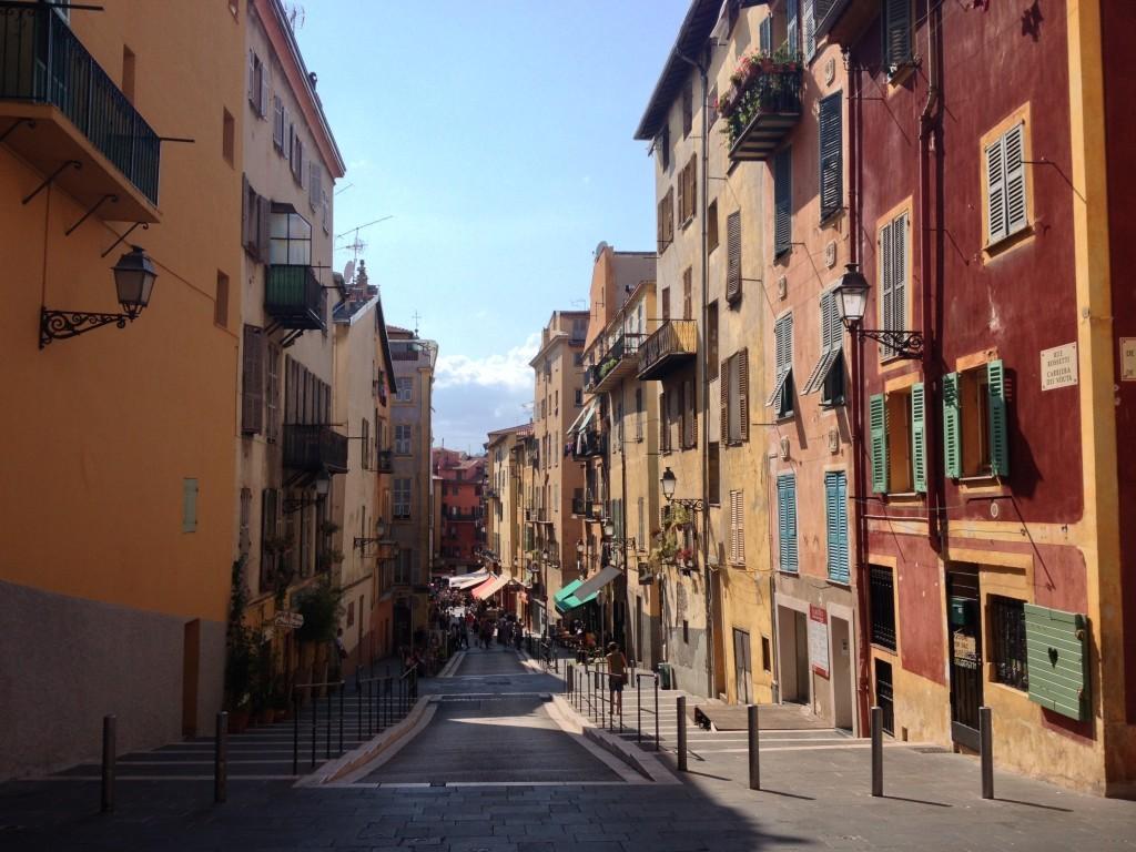Vieux Nice - Rue Rosetti in der Altstadt in Nizza