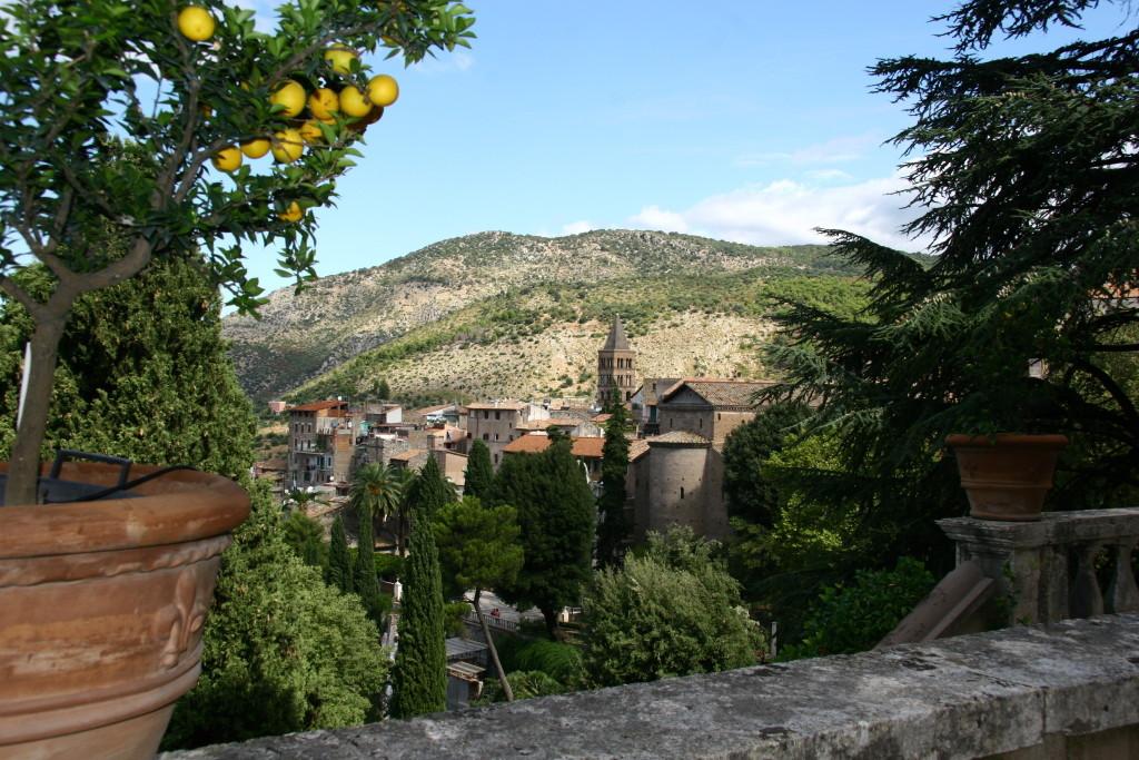 Villa d'Este - Ausblick auf Tivol
