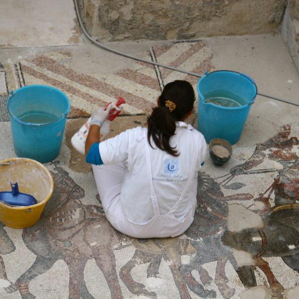 Villa Romana del Casale - Restaurationsarbeiten