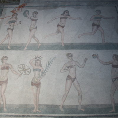 Villa Romana del Casale - Tanzende Bikini-Mädchen