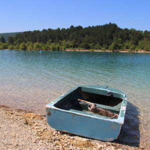 Boot am Lac de Sainte Croix