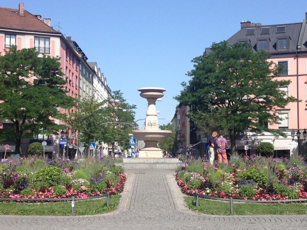 Gärtnerplatz im Glockenbachviertel / München