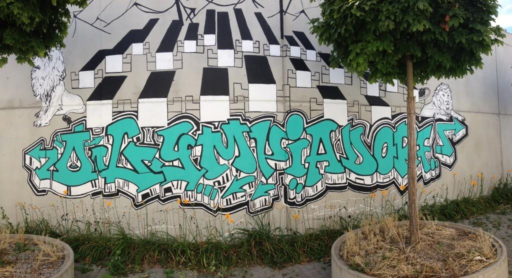 Olympisches Dorf - Streetart
