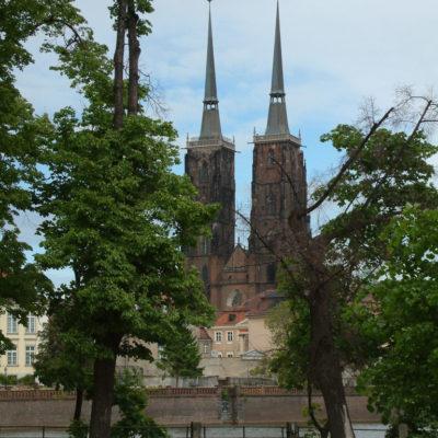Dom St. Johannes - Die Dominsel ist der älteste Stadtteil in Breslau / Wroclaw
