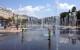 Le Miroir d'Eau auf der Promenade du Paillon in Nizza