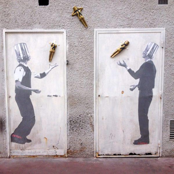 Streetart - Oscar-Jongleure in Cannes