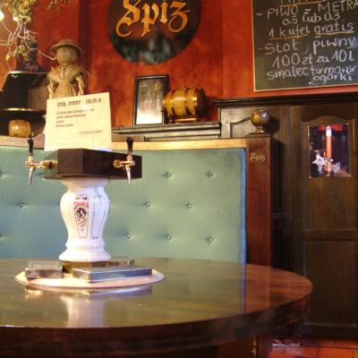 Restaurant der Minibrauerei Spiz in Breslau - Unbedingt das Weißbier kosten!
