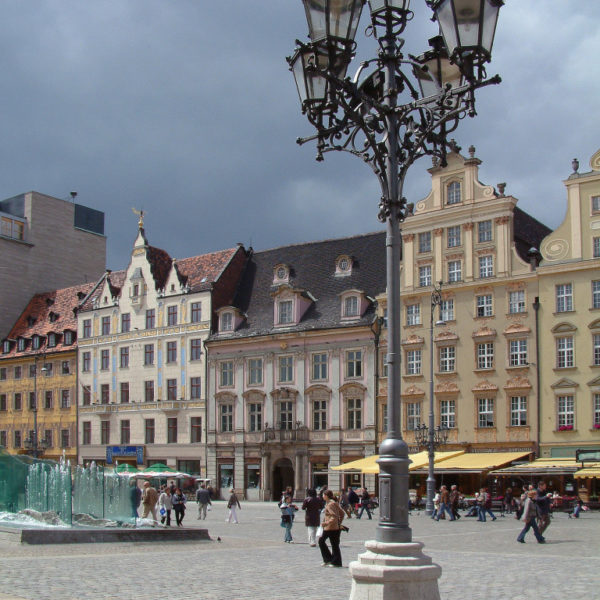 Rynek - Die Westseite des Großen Rings in Breslau